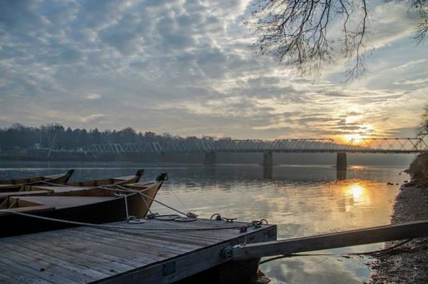 Wall Art - Photograph - Washingtons Boats At Sunrise Bucks County Pa by Bill Cannon