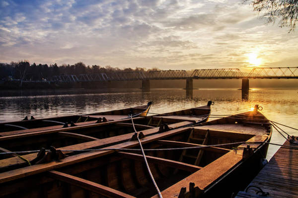 Wall Art - Photograph - Washingtons Crossing Flat Boats - Bucks County Pennsylvania by Bill Cannon