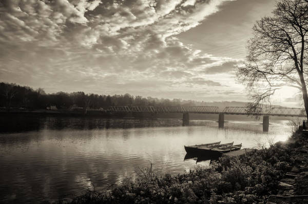 Washington Crossing Photograph - Washington's Crossing In The Morning In Sepia by Bill Cannon
