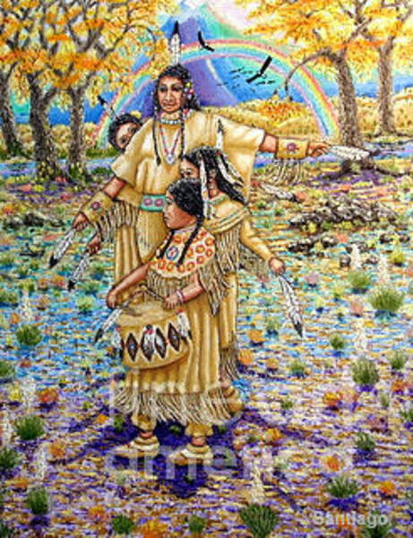 Painting - Washoe Maidens by Santiago Chavez