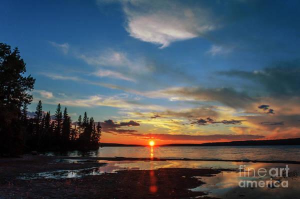 Waskesiu Photograph - A Delightful Summer Sunset On Lake Waskesiu In Canada by Viktor Birkus