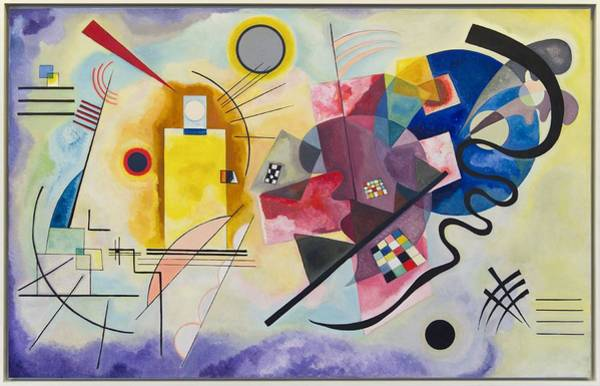 Wall Art - Painting - Wassily Kandinsky,jaune Rouge Bleu by Celestial Images