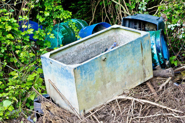 Trough Wall Art - Photograph - Waste Containers by Tom Gowanlock