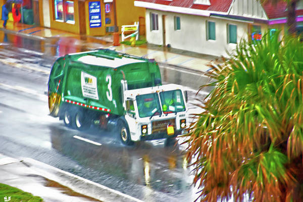 Photograph - Waste Disposal Truck On Rainy Day by Gina O'Brien