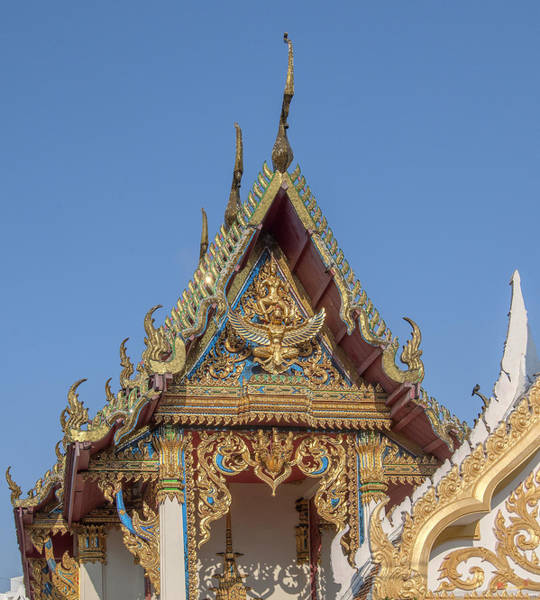 Photograph - Wat Chaimongkron Phra Ubosot Gable Dthcb0082 by Gerry Gantt