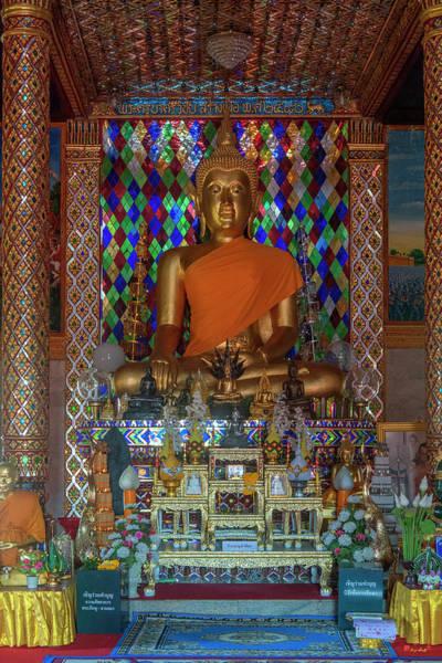 Photograph - Wat Chamthewi Phra Wihan Buddha Image Dthlu0059 by Gerry Gantt