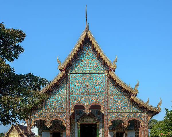 Photograph - Wat Chamthewi Phra Wihan Gable Dthlu0055 by Gerry Gantt