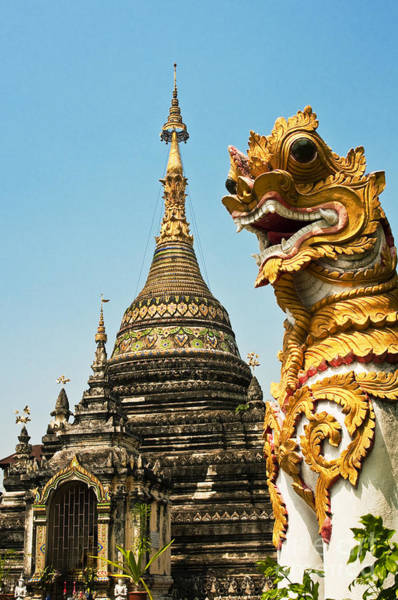 Wall Art - Photograph - Wat Chetawan - Thailand by Greg Vaughn - Printscapes