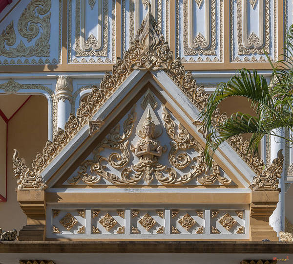 Photograph - Wat Chom Lom Na Kluea Phra Ubosot Gate Dthcb0146 by Gerry Gantt