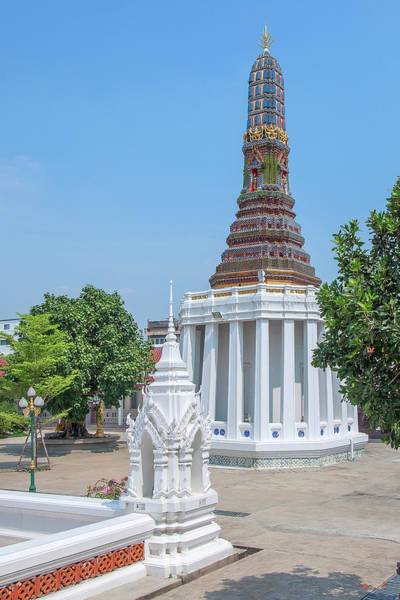 Photograph - Wat Intharam Phra Ubosot Boundary Stone And Phra Prang East Dthb2087 by Gerry Gantt