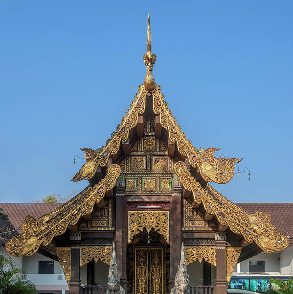 Chang Mai Wall Art - Photograph - Wat Jed Yod Gable Of The Vihara Of The 700 Years Image Dthcm0963 by Gerry Gantt