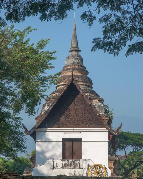 Chang Mai Wall Art - Photograph - Wat Jed Yod Phra Ubosot Dthcm0967 by Gerry Gantt