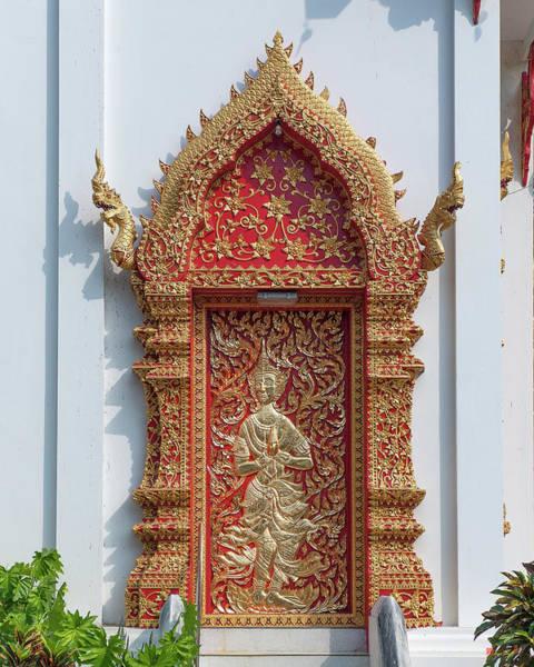 Chang Mai Wall Art - Photograph - Wat Jed Yod Phra Wihan Rear Door Dthcm0916 by Gerry Gantt