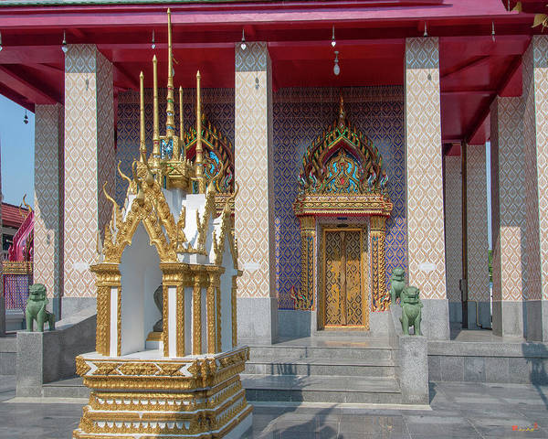 Photograph - Wat Khunchan Phra Ubosot Entrance Dthb2037 by Gerry Gantt
