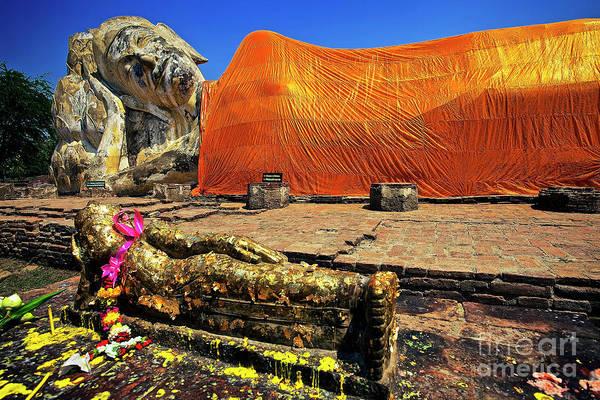Photograph - Wat Lokayasutharam Reclining Buddha In Ayutthaya, Thailand by Sam Antonio Photography