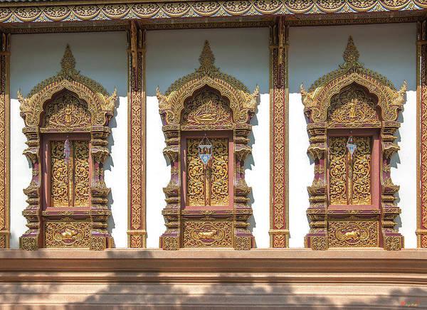 Photograph - Wat Mae San Pa Daet Wihan Luang Windows Dthlu0213 by Gerry Gantt