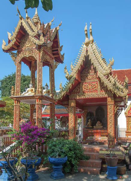Photograph - Wat Mahawan Bell Tower And Shrine Dthlu0297 by Gerry Gantt