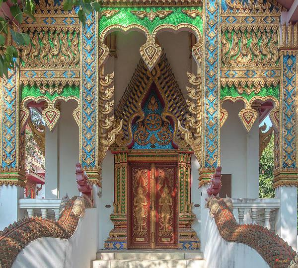 Photograph - Wat Nam Phueng Phra Ubosot Doors Dthla0013 by Gerry Gantt