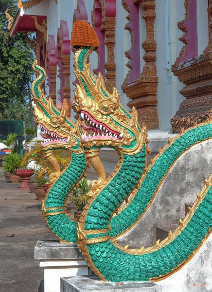 Photograph - Wat Nam Phueng Phra Wihan Naga Guardians Dthla0007 by Gerry Gantt