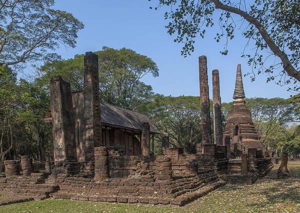 Photograph - Wat Nang Phaya Main Wihan And Main Chedi Dthst0150 by Gerry Gantt