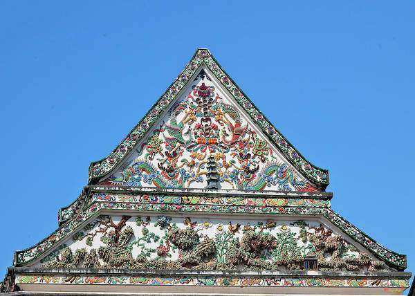 Photograph - Wat Nangnong Phra Wihan Gable Dthb0435 by Gerry Gantt