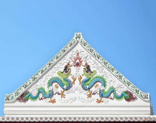 Photograph - Wat Nangnong Sermon Hall Gable Dthb0570 by Gerry Gantt