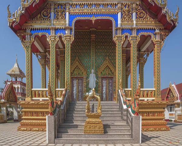Photograph - Wat Nong Yai Phra Ubosot Entrance And Boundary Stone Dthcb0212 by Gerry Gantt