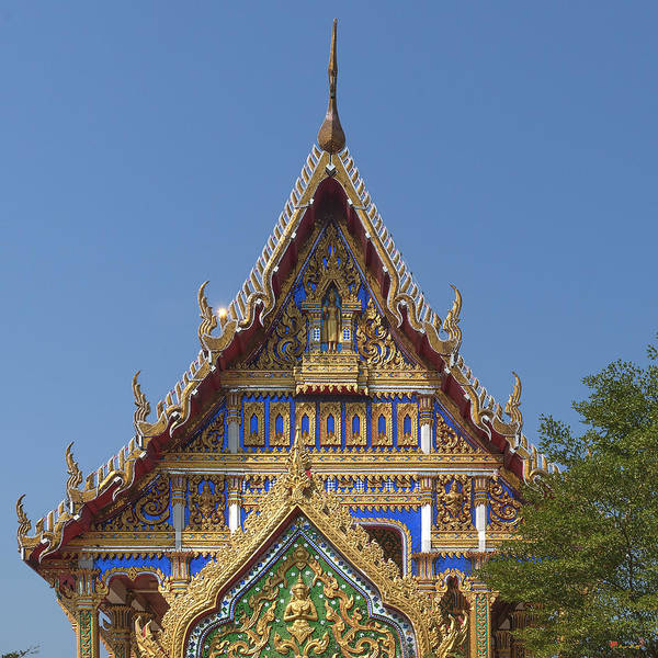 Photograph - Wat Nong Yai Phra Ubosot Gable Dthcb0211 by Gerry Gantt