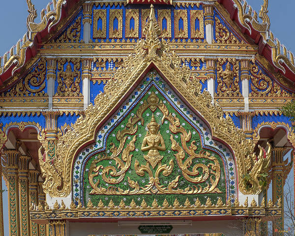 Photograph - Wat Nong Yai Phra Ubosot Gate Dthcb0210 by Gerry Gantt