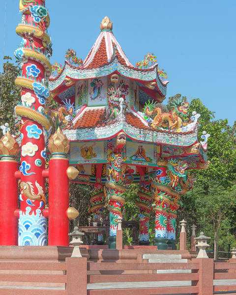 Photograph - Wat Pa Neramit Mae Taeng Chinese Shrine Dthcm2062 by Gerry Gantt