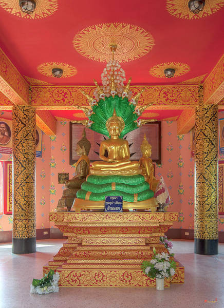 Photograph - Wat Pak Thang Phra That Chedi Interior Dthcm2155 by Gerry Gantt