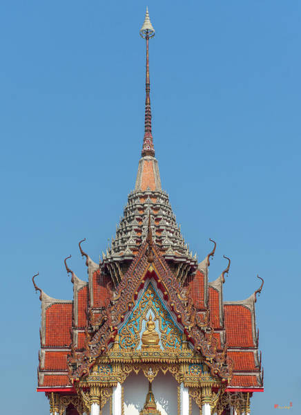 Photograph - Wat Photharam Buddha Image Shrine Gable And Spire Dthns0085 by Gerry Gantt