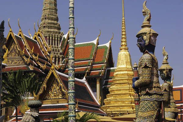 Wall Art - Photograph - Wat Phra Kaew  by Liz Pinchen