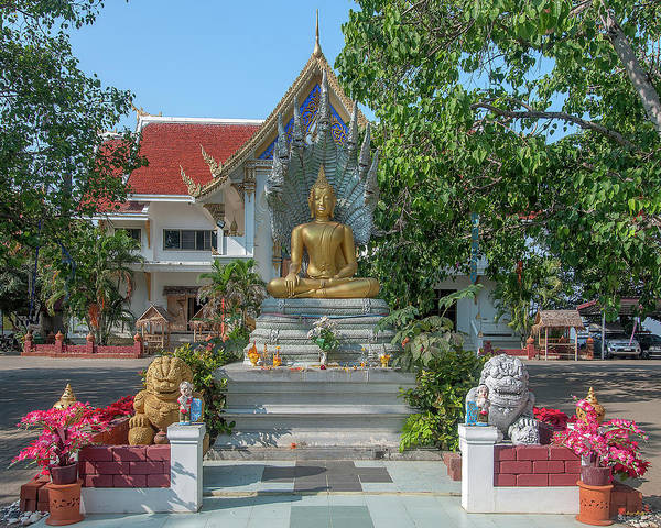 Photograph - Wat Phra That Doi Saket Buddha Image Shrine Dthcm2194 by Gerry Gantt