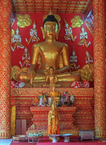 Photograph - Wat Phra That Lampang Luang Phra Wihan Buddha Images Dthla0061 by Gerry Gantt
