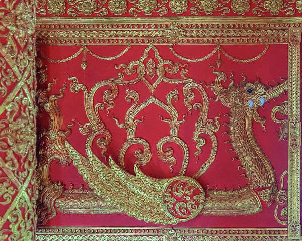 Photograph - Wat Phra That Lampang Luang Phra Wihan Interior Frieze Dthla0064 by Gerry Gantt