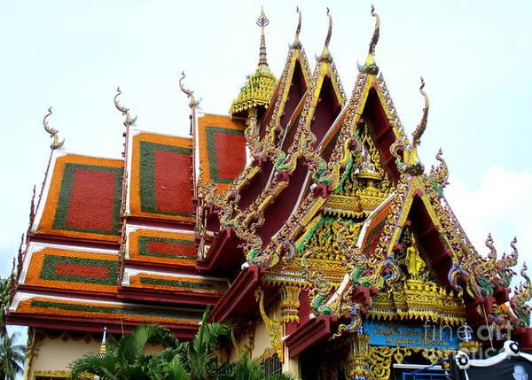 Koh Samui Photograph - Wat Plai Laem 1 by Randall Weidner