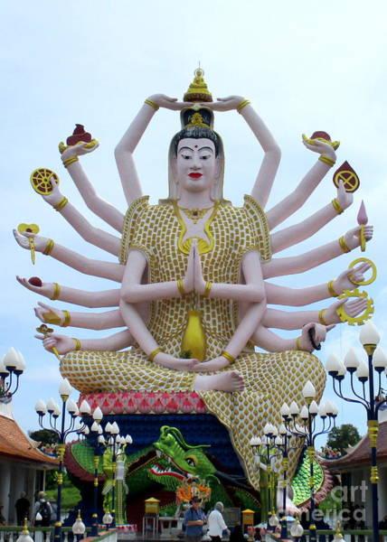 Koh Samui Photograph - Wat Plai Laem 14 by Randall Weidner