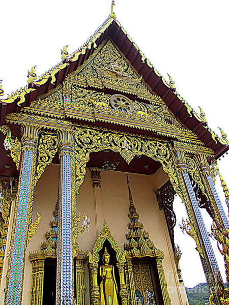 Koh Samui Photograph - Wat Plai Laem 15 by Randall Weidner