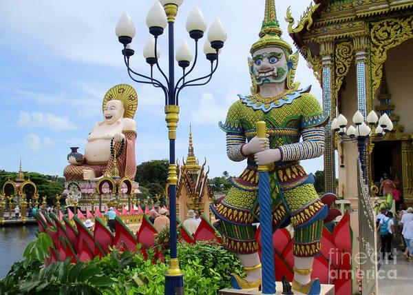 Koh Samui Photograph - Wat Plai Laem 3 by Randall Weidner