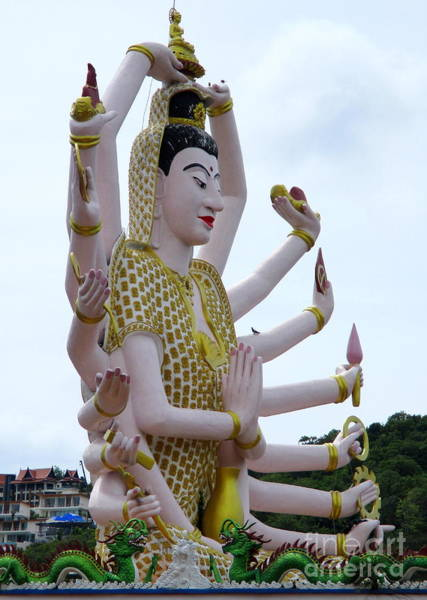 Koh Samui Photograph - Wat Plai Laem 4 by Randall Weidner