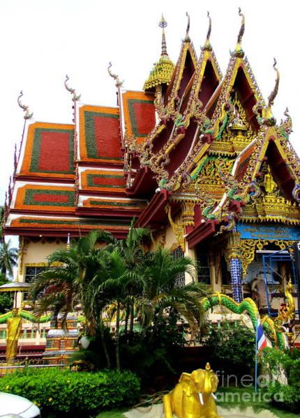 Koh Samui Photograph - Wat Plai Laem 6 by Randall Weidner