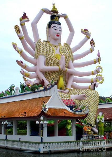 Koh Samui Photograph - Wat Plai Laem 9 by Randall Weidner