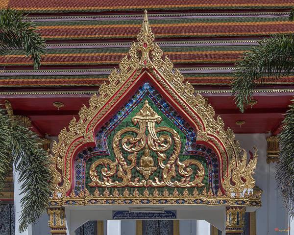 Photograph - Wat Prachum Khongkha Phra Ubosot Gate Dthcb0172 by Gerry Gantt