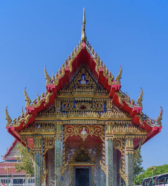 Photograph - Wat Prachum Khongkha Phra Wihan Gable Dthcb0176 by Gerry Gantt