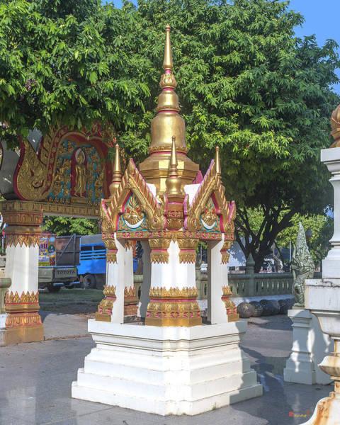 Photograph - Wat Ratcha Thanee Phra Ubosot Boundary Stone Shrine Dthst0220 by Gerry Gantt