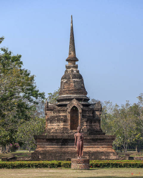 Photograph - Wat Sa Si Chedi And Buddha Image Dthst0083 by Gerry Gantt