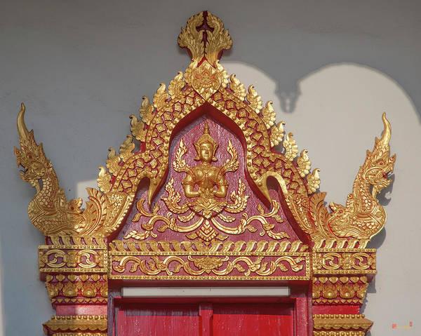 Chang Mai Wall Art - Photograph - Wat Santiwan Phra Wihan Door Lintel Dthcm0983 by Gerry Gantt