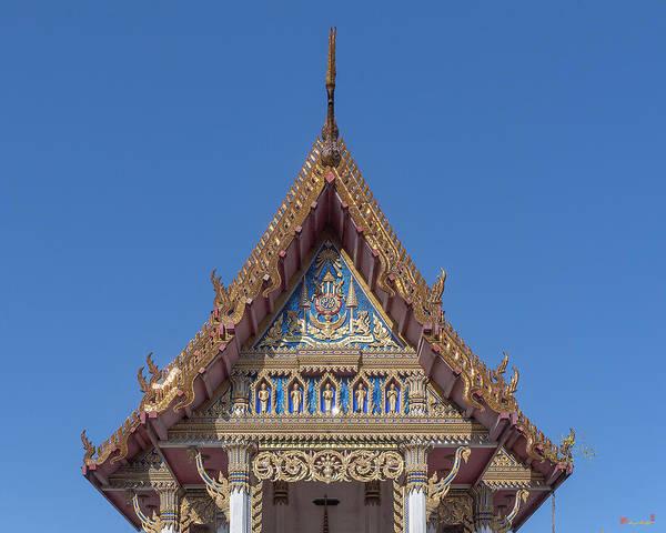 Photograph - Wat Sawangfa Pruetaram Phra Ubosot Gable Dthcb0110 by Gerry Gantt