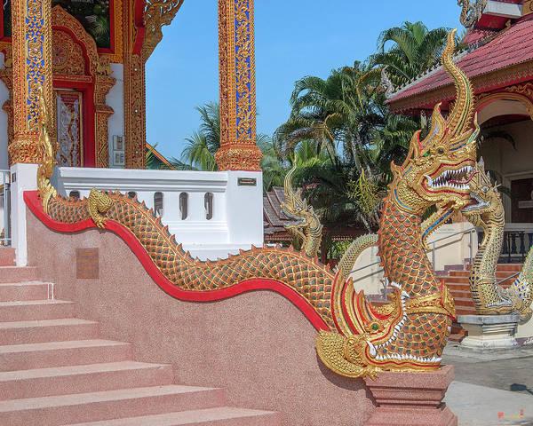 Photograph - Wat Si Chum Phra Ubosot Naga Dthlu0123 by Gerry Gantt